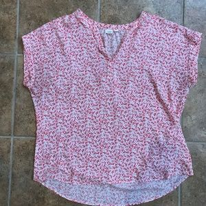 Gap Casual Floral Short Sleeve Blouse